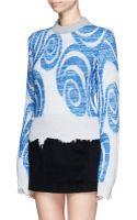 Acne Studios Gaze Ps Merino Wool Blend Swirl Mohair Sweater - Lyst