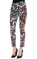 Cj By Cookie Johnson Wisdom Skinny Ankle Jeans Blackred - Lyst