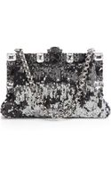 Dolce & Gabbana Small Framed Sequined Clutch with Chain - Lyst