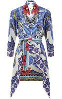 Etro Paisley Silk Kimono Top - Lyst