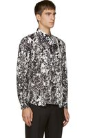 McQ by Alexander McQueen Black and White Marbled Shirt - Lyst