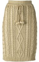 Moschino Vintage Knitted Sheath Skirt - Lyst