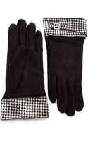 Lauren by Ralph Lauren Houndstooth Gloves - Lyst