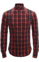 McQ by Alexander McQueen Tartan Harness Shirt - Lyst
