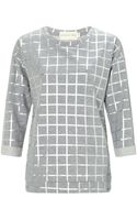Atterley Road Grey Check Sweat - Lyst