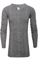 Rick Owens Long Sleeve Wool Knit  - Lyst