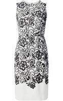 Dolce & Gabbana Lace Print Shift Dress - Lyst
