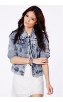 Missguided Laverna Ice Wash Denim Jacket in Vintage Boyfriend Fit Campaign - Lyst