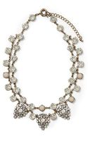 Sabine Three Pendant Pear Cluster Necklace - Lyst