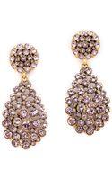 Oscar de la Renta Teardrop Clip On Earrings Lilac - Lyst