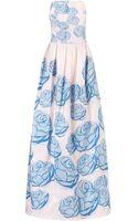 Katie Ermilio Floral Taffeta Spring Garden Gown - Lyst
