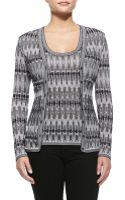 M Missoni Tie-dye Stretch-knit Cardigan - Lyst