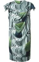 Bernhard Willhelm Psychedelic Print Draped Dress - Lyst