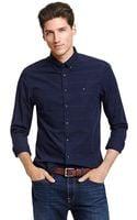 Tommy Hilfiger New York Fit Horizontal Stripe Shirt - Lyst
