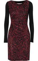 Diane Von Furstenberg Kirby Jersey-paneled Silk Dress - Lyst