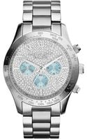 Michael Kors Womens Chronograph Layton Stainless Steel Bracelet Watch 44mm - Lyst