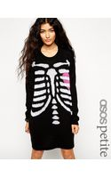 Asos Halloween Skeleton Sweater Dress - Lyst