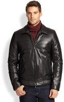 Canali Leather Jacket - Lyst