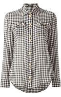 Balmain Gingham Check Shirt - Lyst