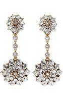 Oscar de la Renta Clear Crystal Drop Clipon Earrings - Lyst