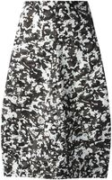 Jil Sander Mixed Print Pencil Skirt - Lyst