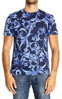 Versace Tshirt Short Sleeve Crewneck Barocco Print - Lyst