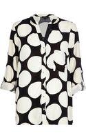 River Island Black Oversized Polka Dot Print Shirt - Lyst