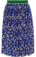 Stella McCartney Lucy Printed Silk Crepe De Chine Skirt - Lyst