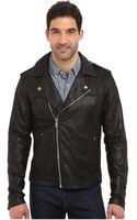Joe's Jeans Lamb Crackle Leather Moto Jacket - Lyst