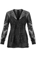 Burberry Prorsum Embroidered Floral-lace Top - Lyst