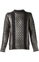 Diesel Black Gold Metallic Sweater - Lyst