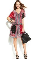 Michael Kors Michael Printed Dropwaist Dress - Lyst