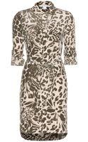 Diane Von Furstenberg Prita Animalprint Silk Dress - Lyst
