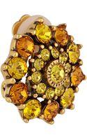 Oscar de la Renta Gold-tone Crystal Earrings - Lyst