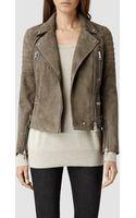 AllSaints Huxley Leather Biker Jacket - Lyst