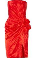 Lanvin Strapless Duchesse-satin Dress - Lyst