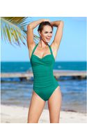 La Blanca Ruched Over The Shoulder One-piece Swimsuit - Lyst