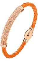 Folli Follie Rose Goldplated Crystal Braided Bracelet - Lyst