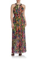 Marc New York By Andrew Marc Mixed Print Halter Maxi Dress - Lyst