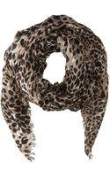 Calvin Klein Leopard Spots Crepe Wrap - Lyst