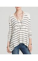 Free People Top  Striped Sunset Park Thermal - Lyst
