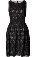 Paule Ka Lace Dress with Bow Sash - Lyst