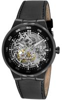 Kenneth Cole Black Skeleton Dial Watch - Lyst