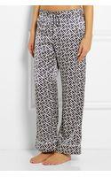 Olivia Von Halle Lila Keiko Printed Silk-satin Pajama Set - Lyst