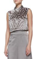 Jason Wu Sleeveless Swivel Velvet Tie Shell - Lyst