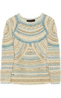 Isabel Marant Wyle Metallic Open Knit Sweater - Lyst