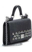 Dolce & Gabbana Mini Embellished-leather Phone Bag - Lyst