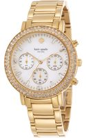 Kate Spade Ladies Gramercy Grand Chronograph Watch - Lyst