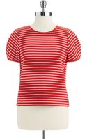 French connection Striped Crop Top - Lyst