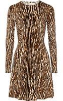 Michael by Michael Kors Animalprint Stretch Cottonblend Mini Dress - Lyst